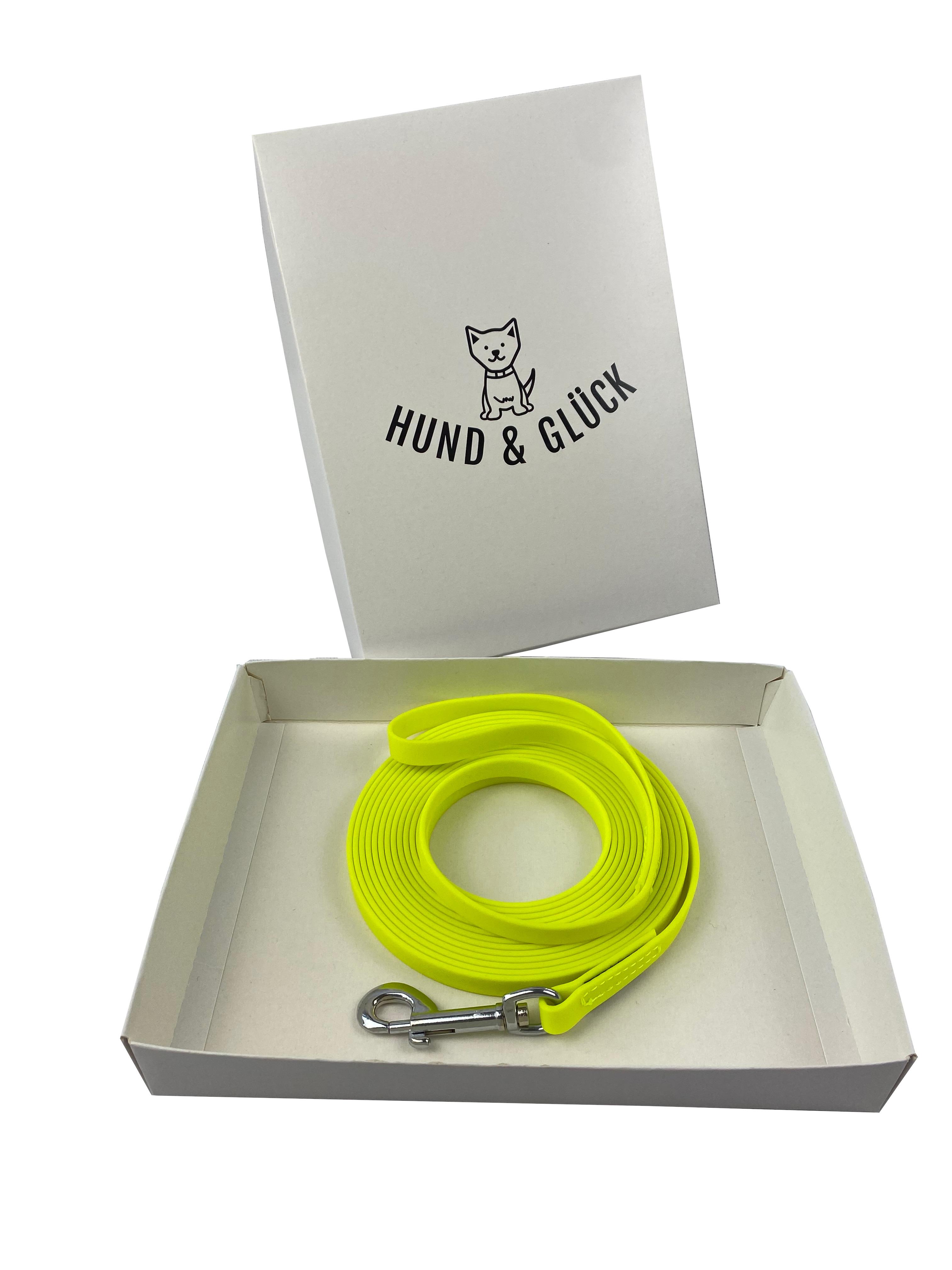 Hund&Glück   Schleppleine Biothane gelb 5m /13mm