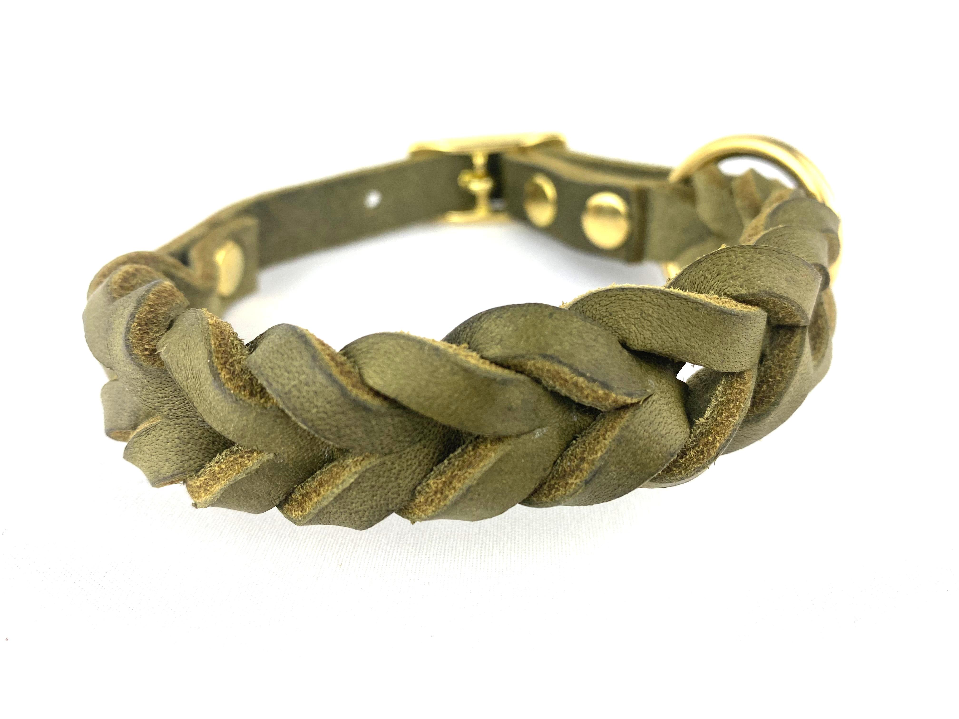Halsband Hund und Glück Puppy Military Green Frontansicht