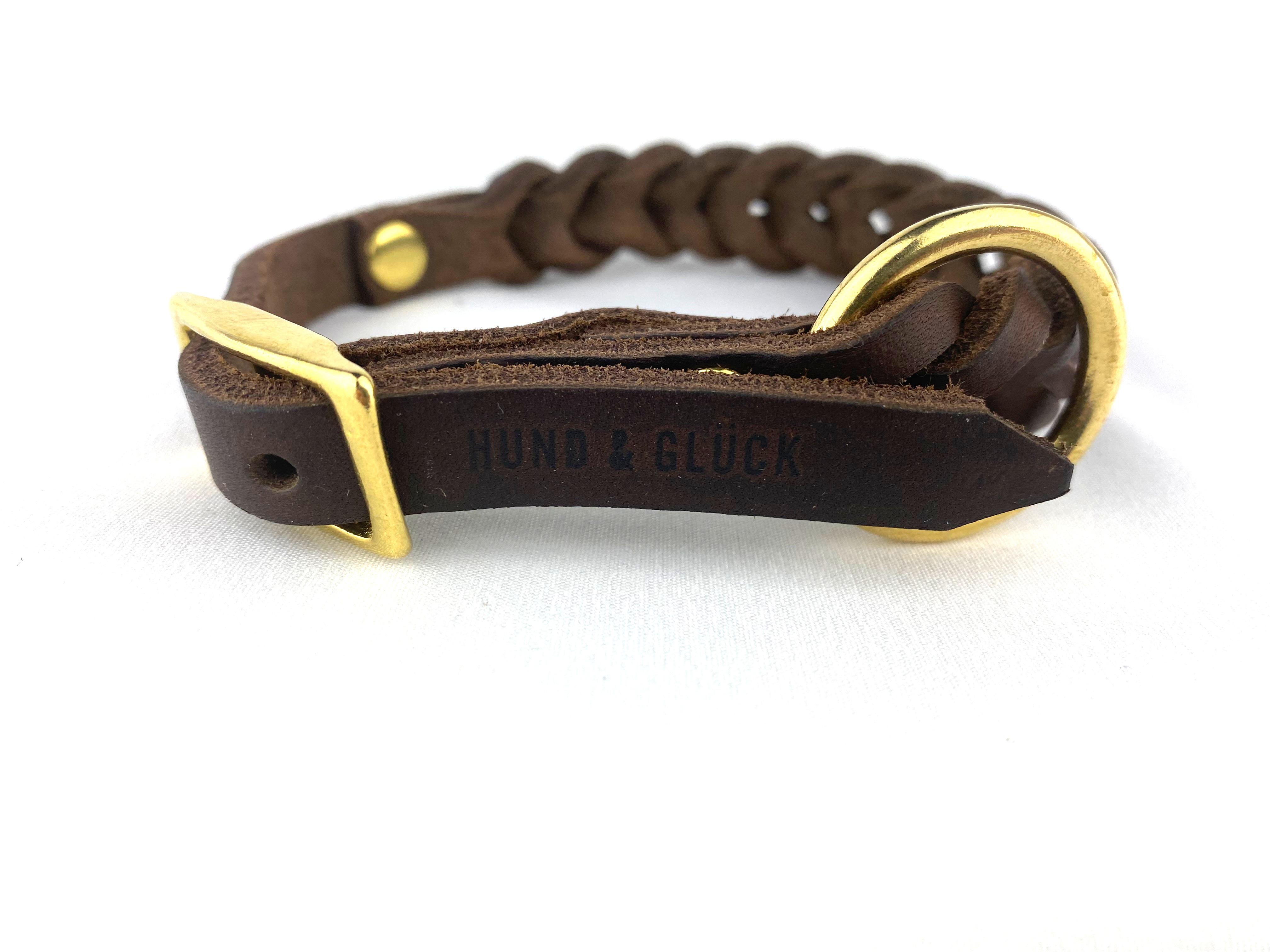 Halsband HundundGlück Puppy Classic Brown Verschluss