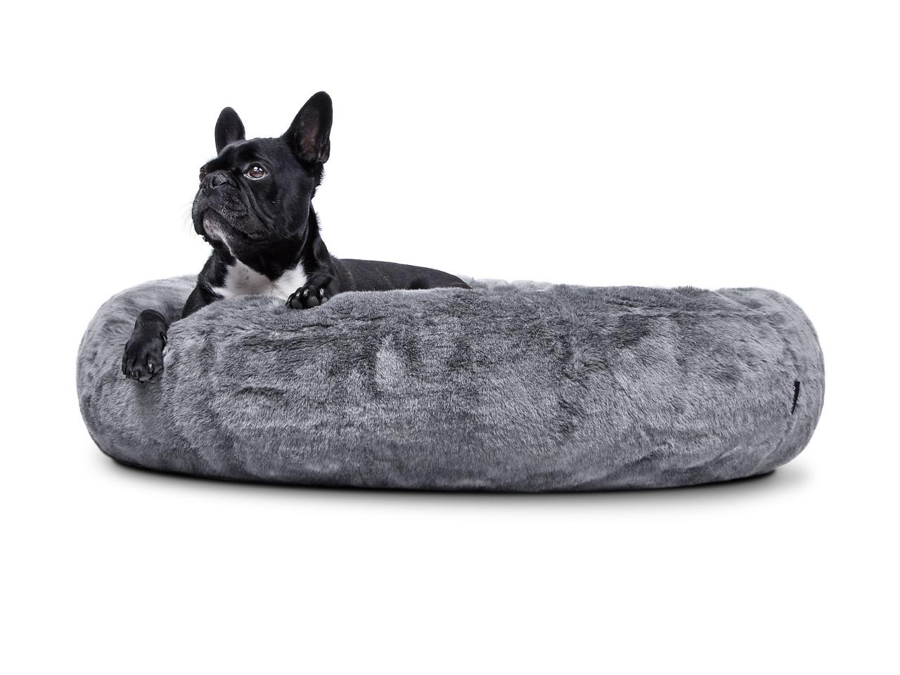hundebett-COSY BASIC-grey-hund