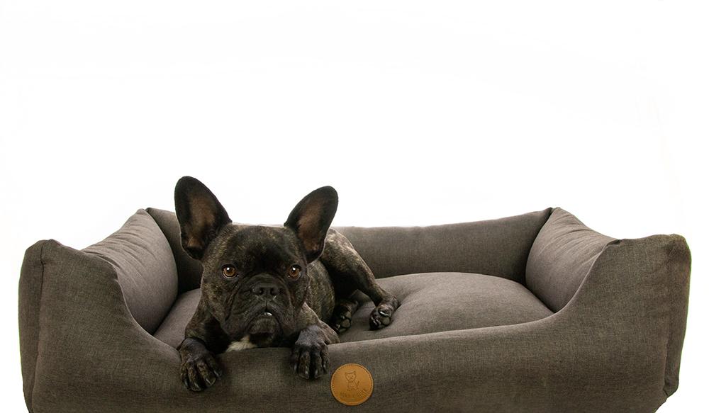 Hund&Glück Hundebett Dreamy Braungrau XL