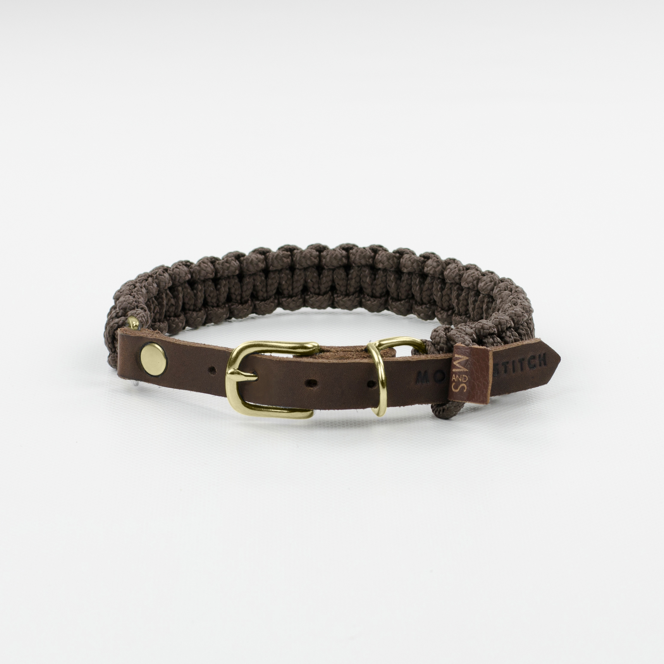 Hundehalsband gold touch-of-leather-dog-collar-chocolate