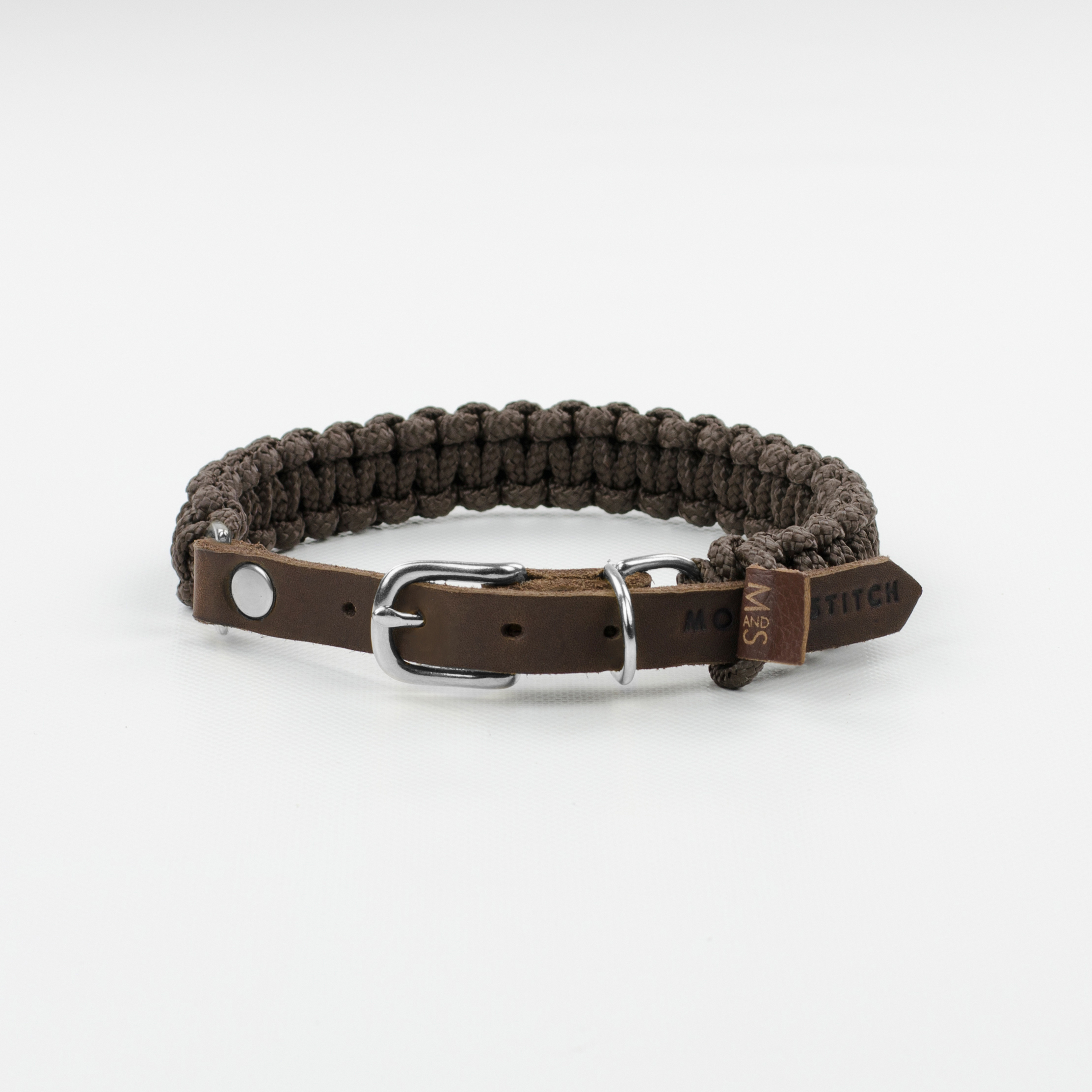 Hundehalsband silber touch-of-leather-dog-collar-chocolate (2)