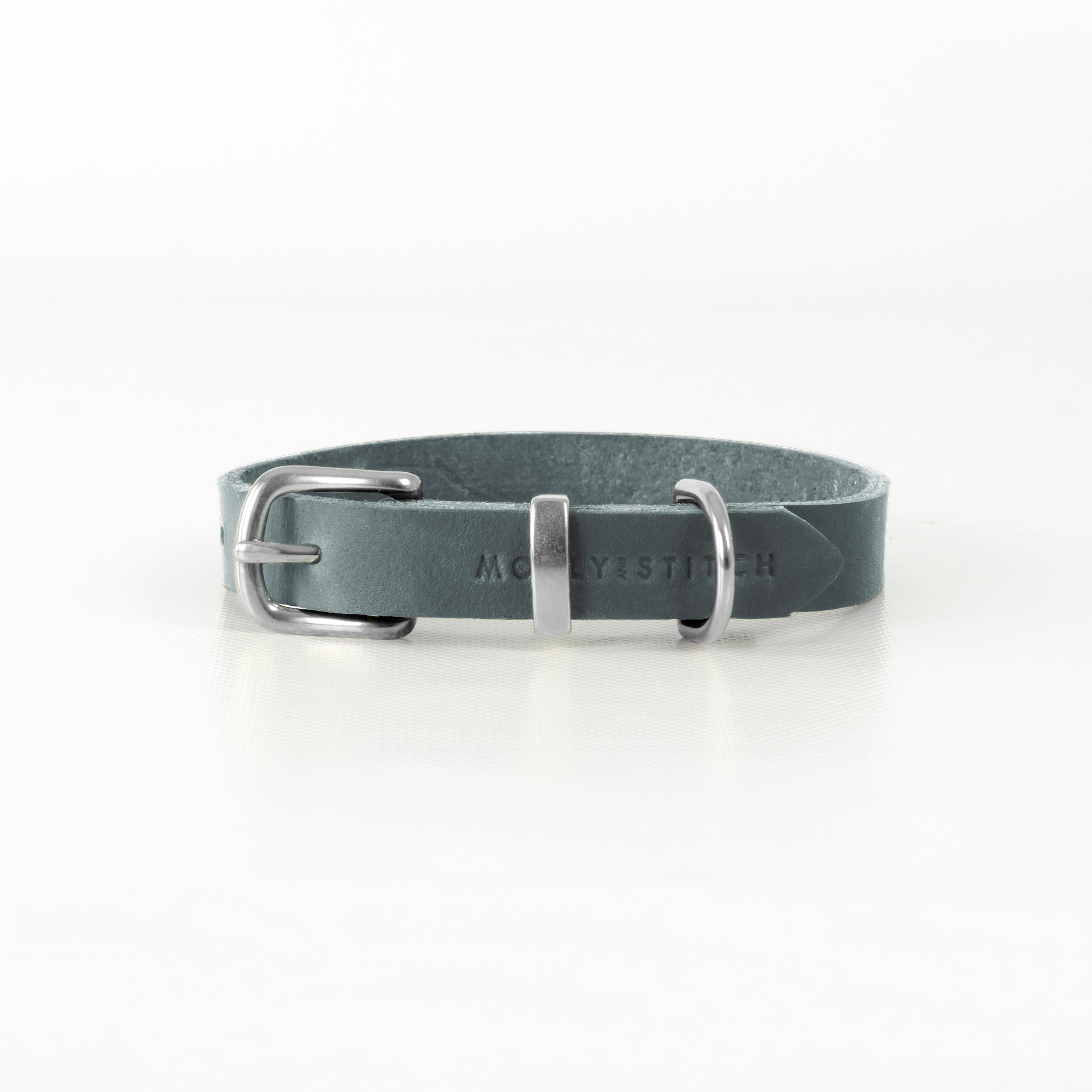Hundehalsband Silber Molly and Stitch BUTTER Timeless Grey