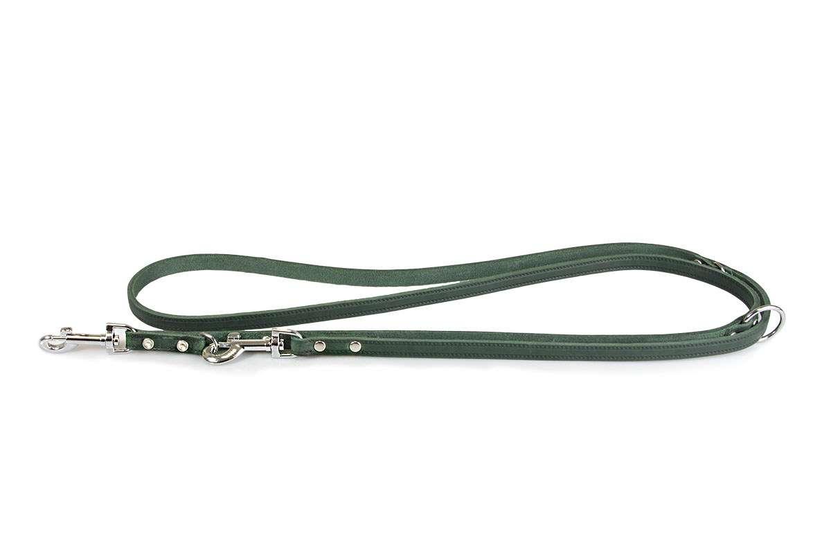 Lederleine Huggy  Forrest Green    2m | 3fach verstellbar