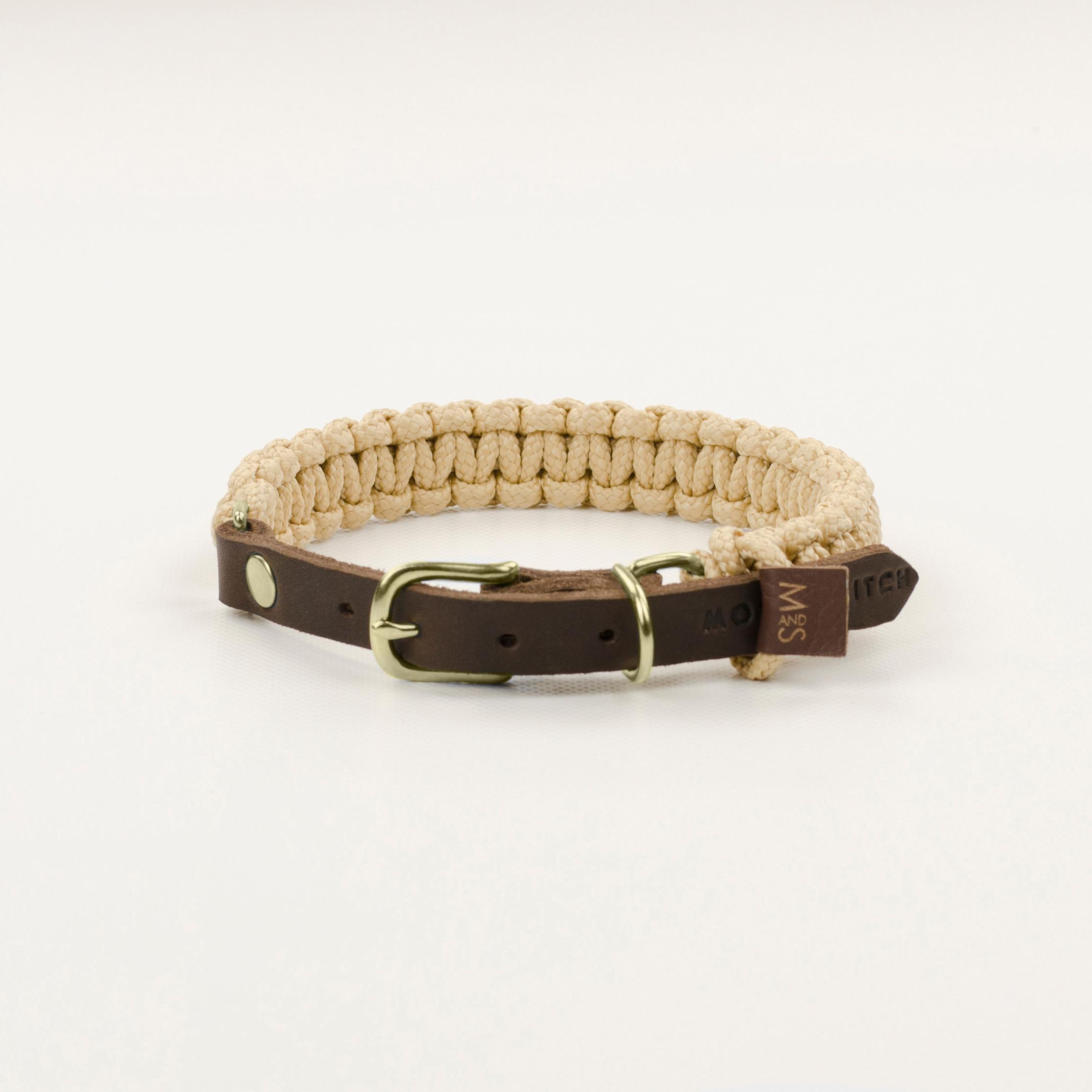 Hundehalsband Gold  touch-of-leather-hundehalsband-beige
