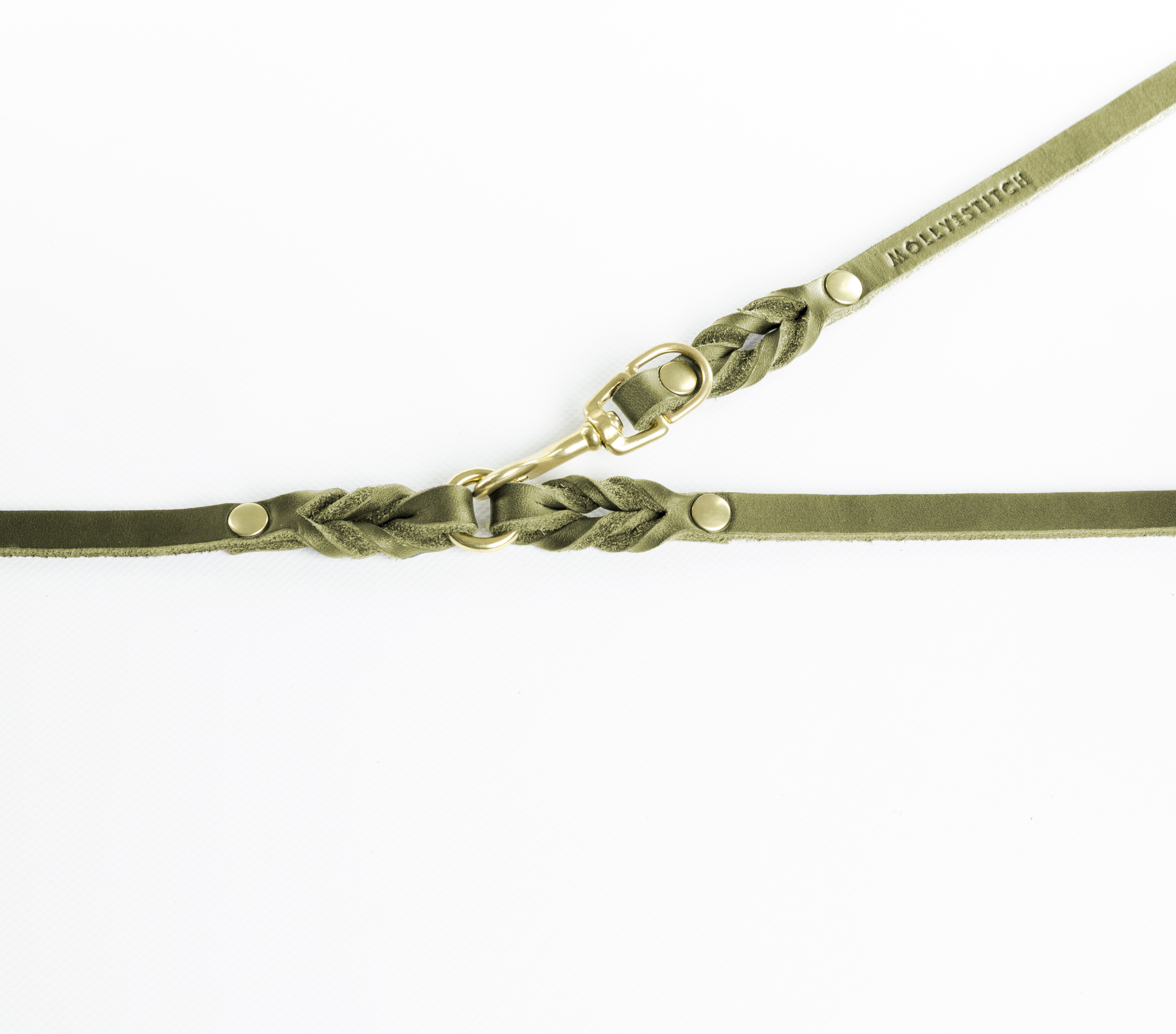 Hundeleine butter-3x-adjustable-gold-dog-leash-olive-tree-green (2)