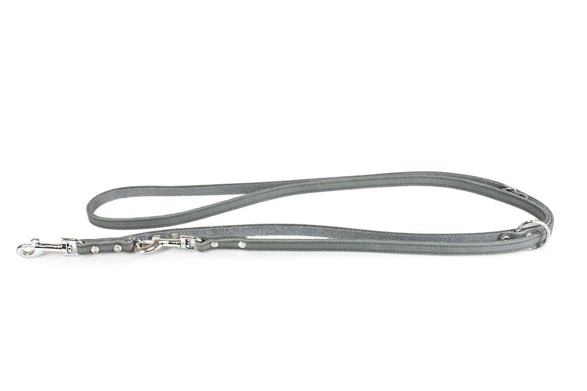 Lederleine Huggy  Grey    2m | 3fach verstellbar