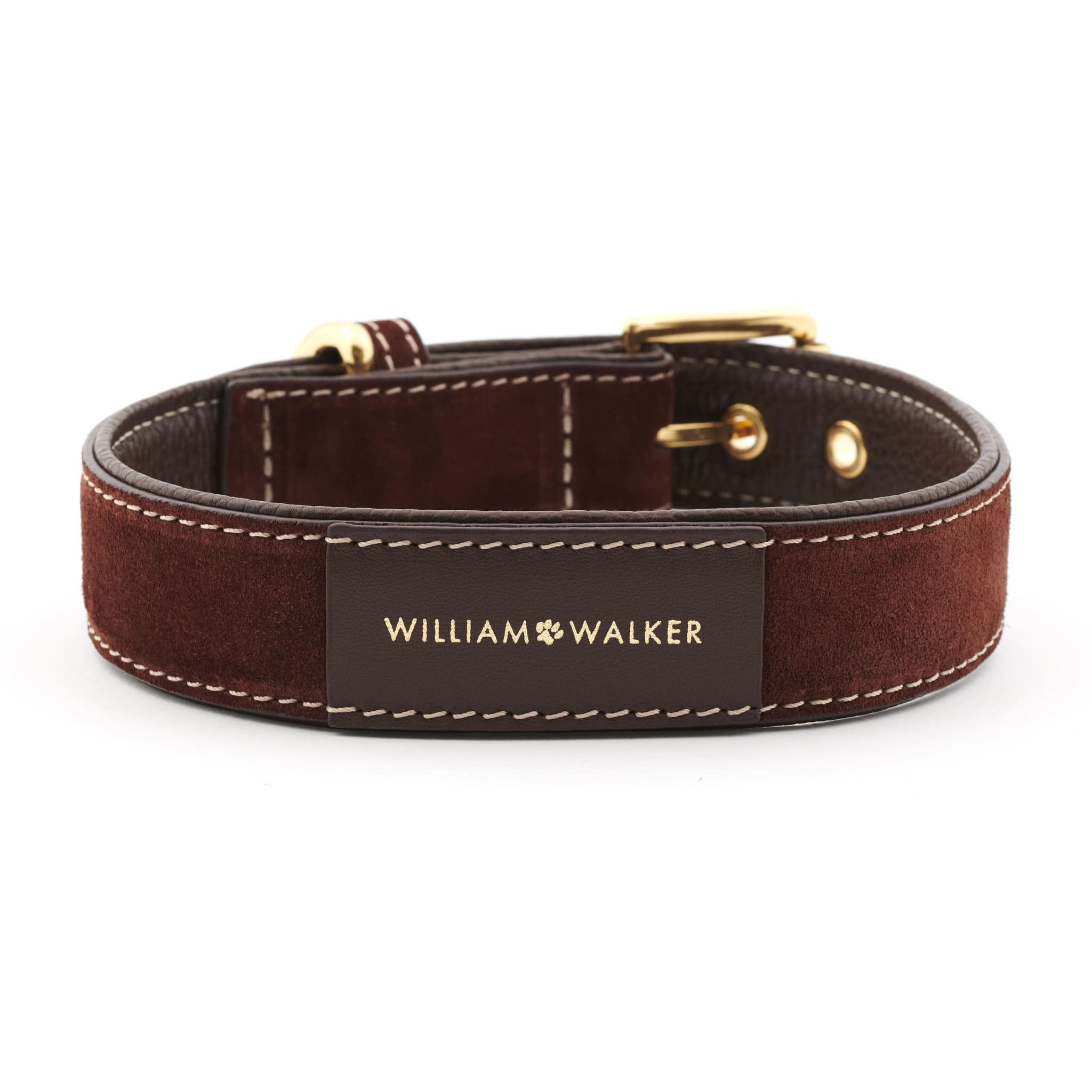 Hundehalsband BROWN William Walker dunkelbraun front_(1)