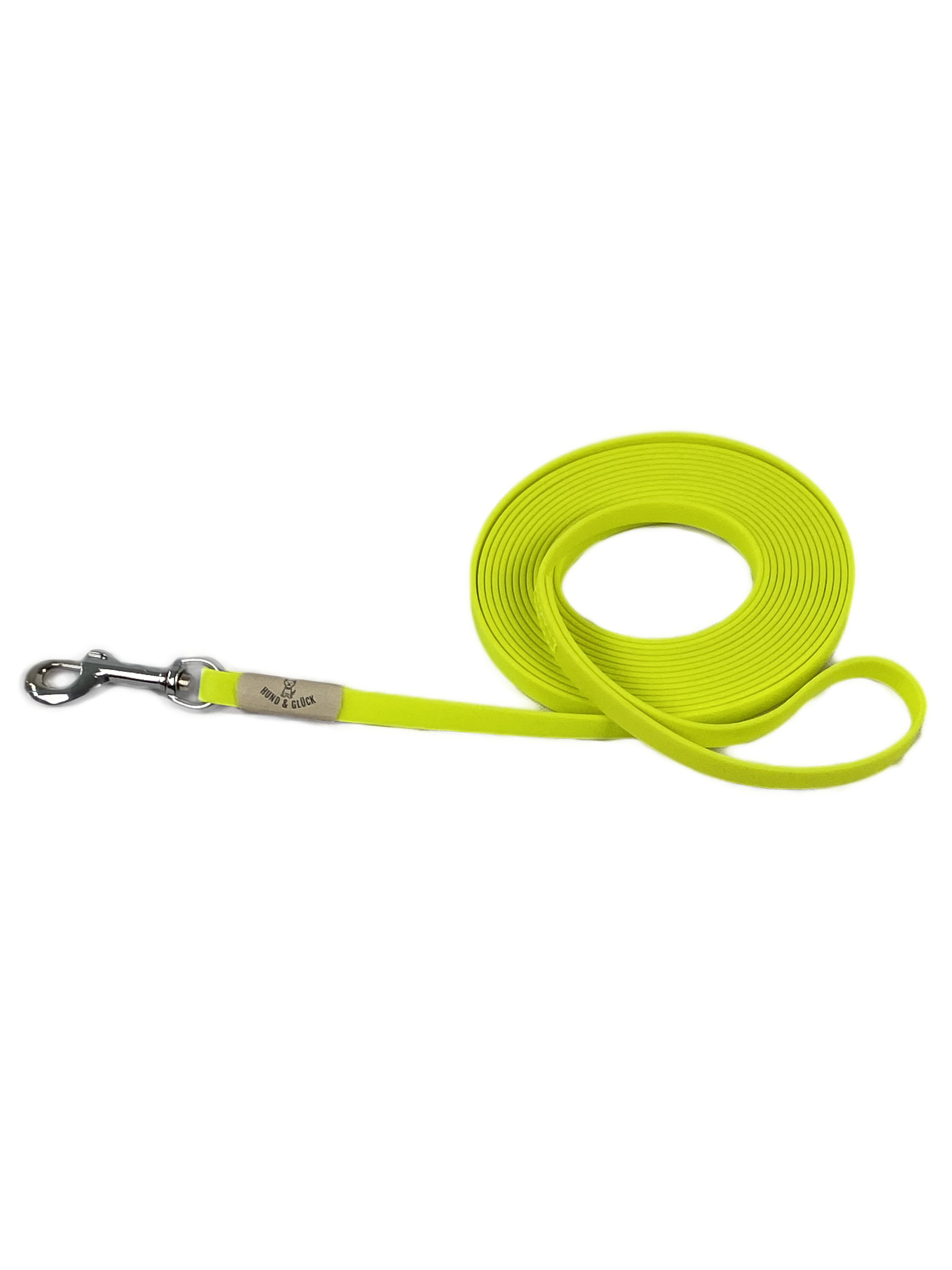 Schleppleine Handschlaufe gelb Biothane Hund 5m_10_m_15m_13mm