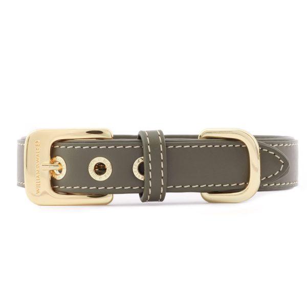 Hundehalsband Glattleder Forest   Gold   L