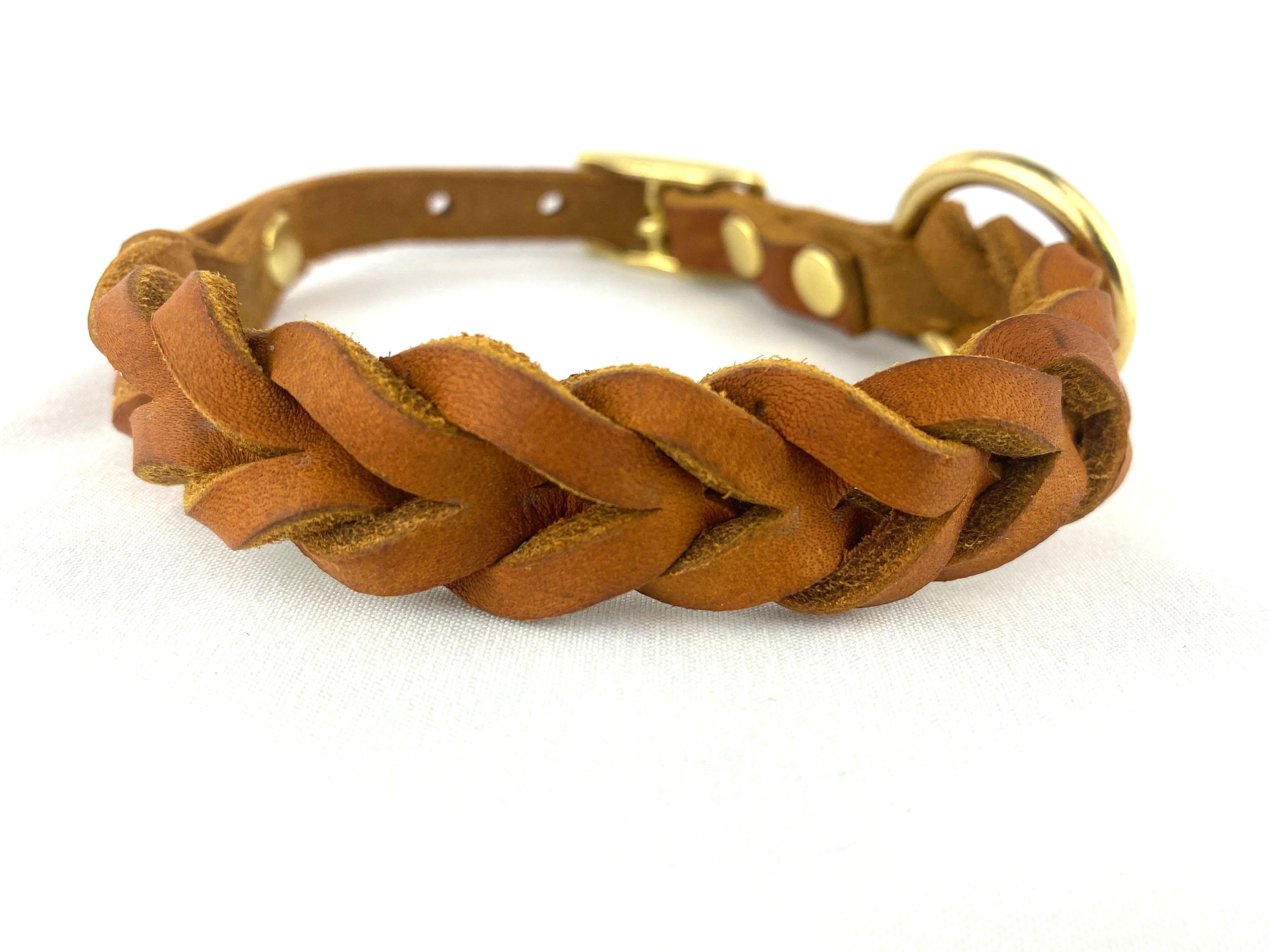 Halsband HundundGlück Puppy Cognac Brown Frontansicht2