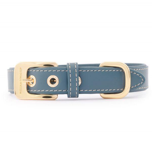Hundehalsband Glattleder Ocean   Silber   M