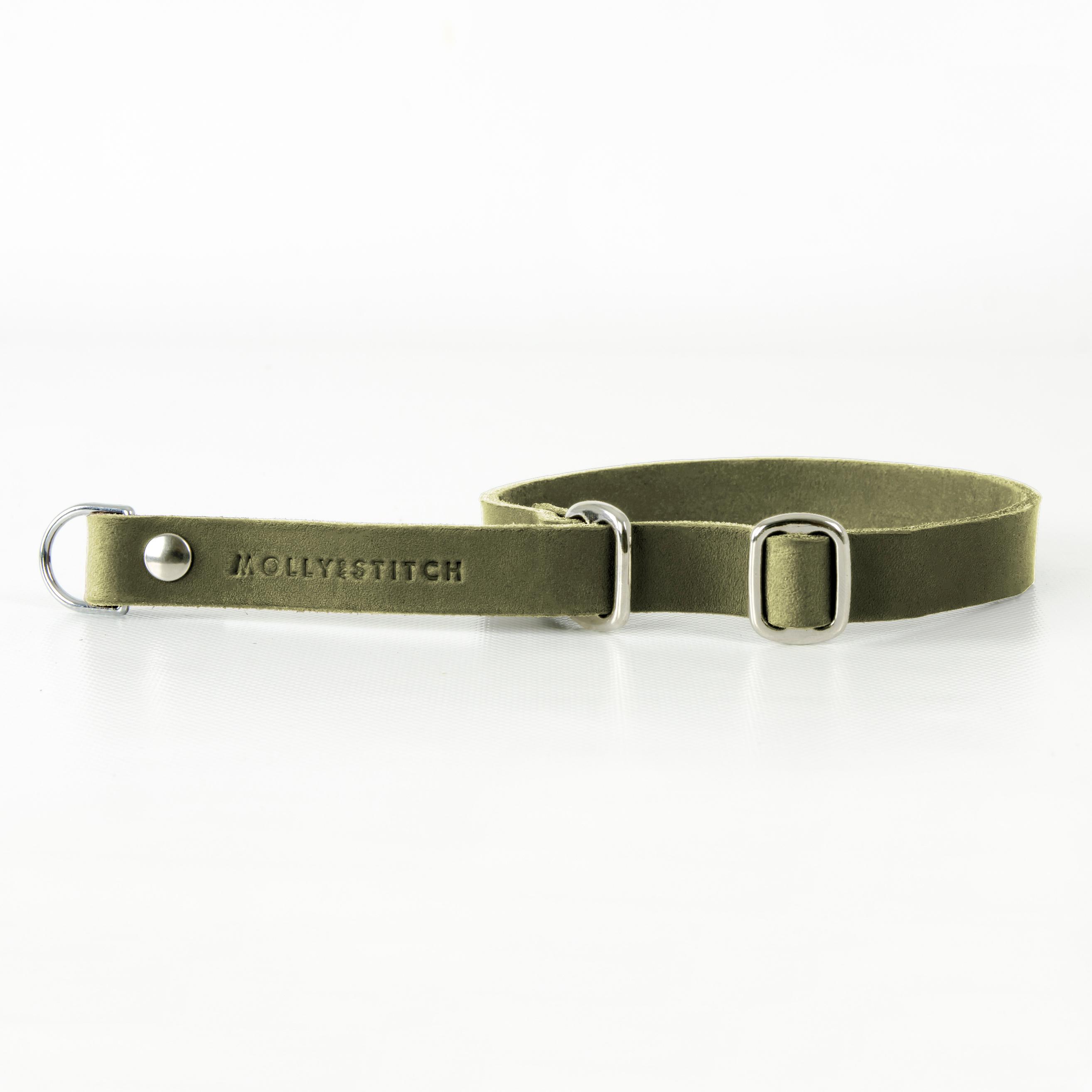 Hundehalsband Retriever silber olive green