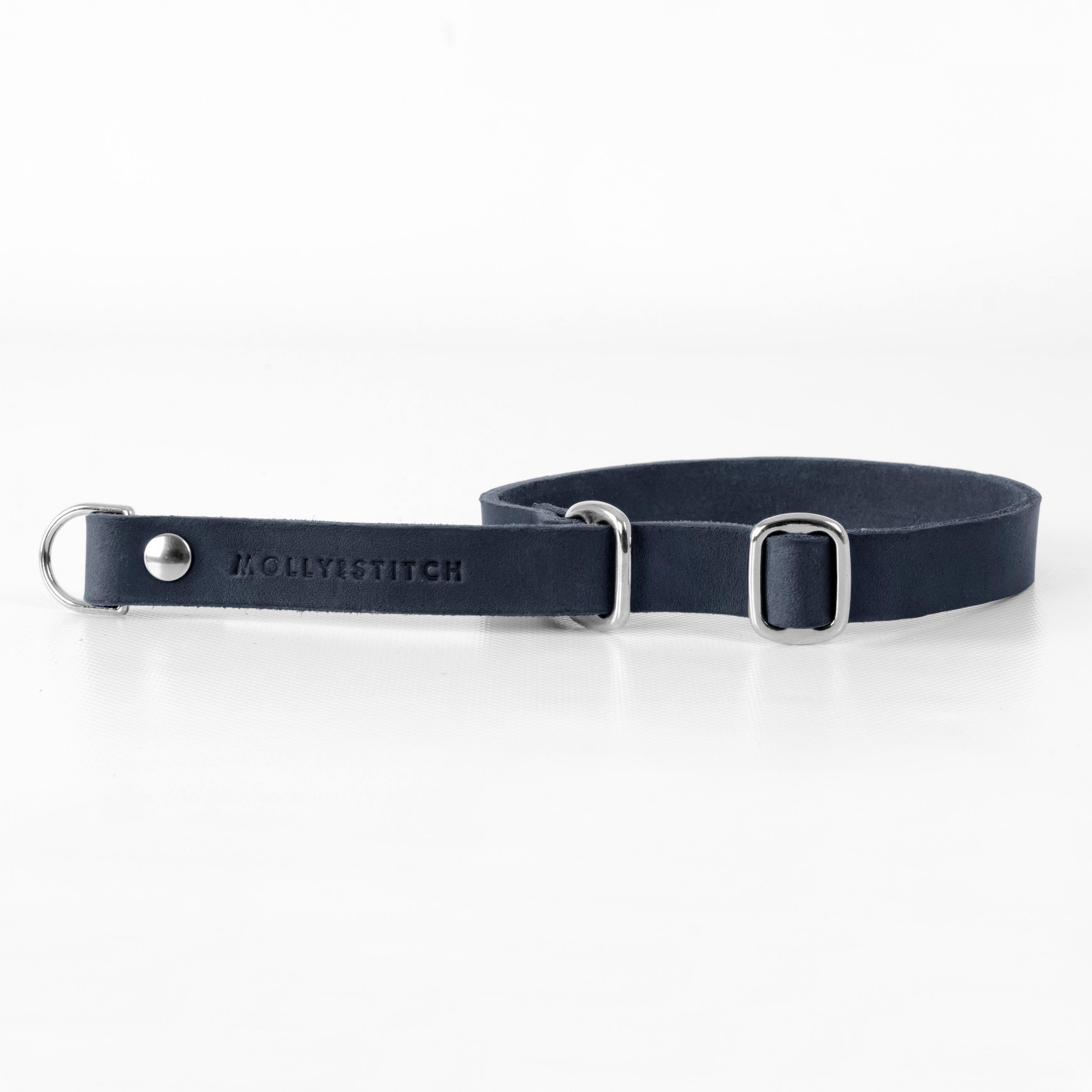 Hundehalsband Retriever silber navy blue