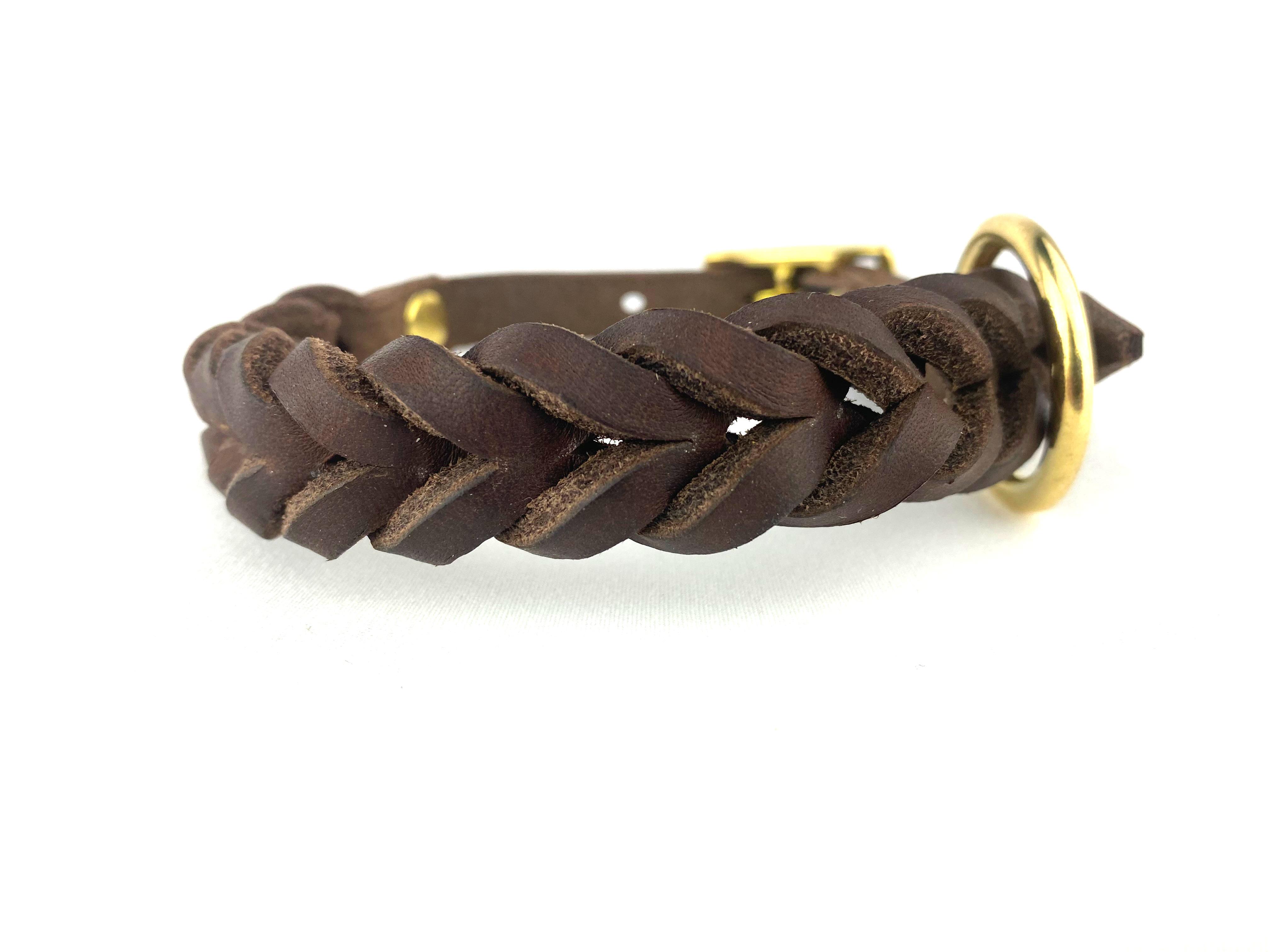 Halsband HundundGlück Puppy Classic Brown  Frontansicht2
