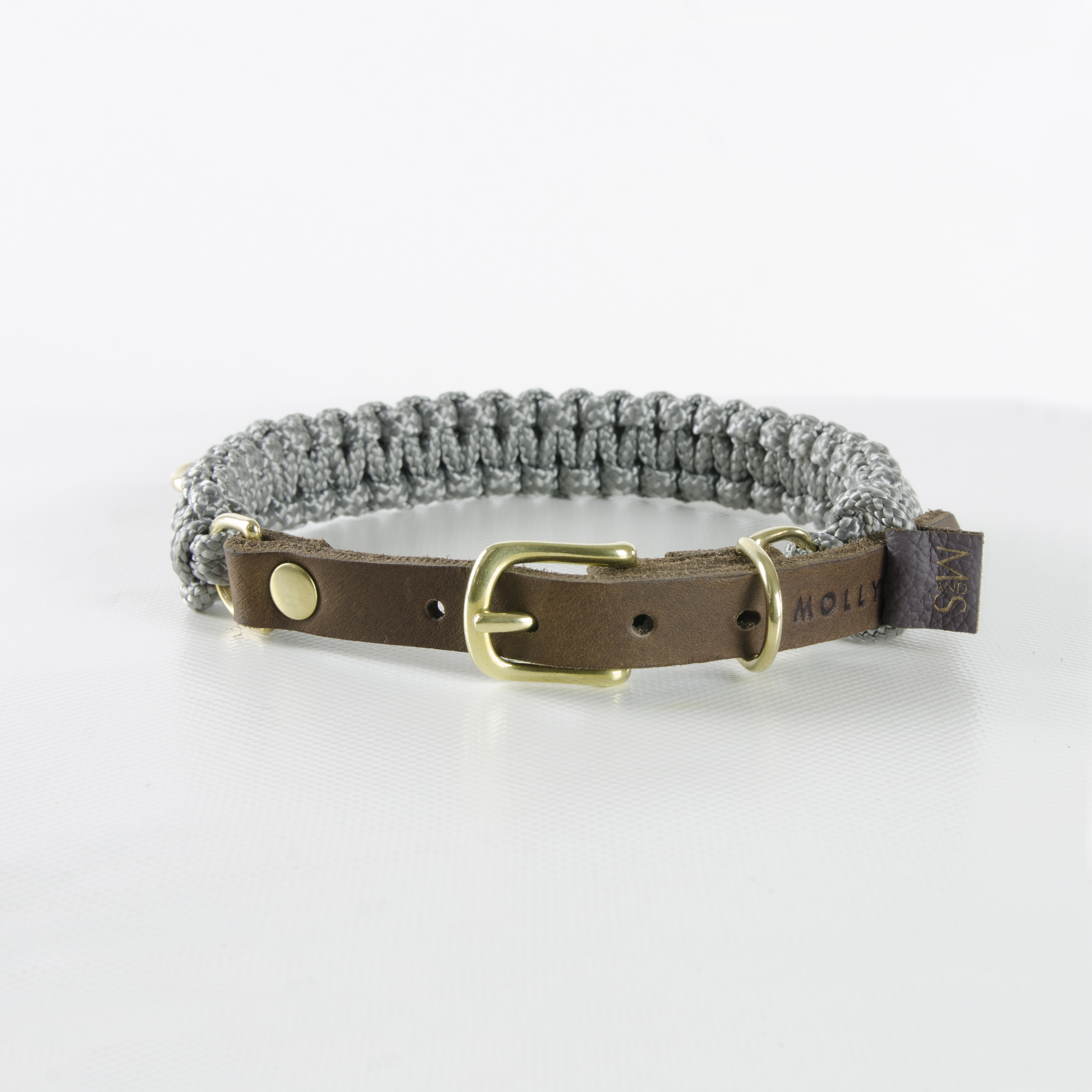 Hundehalsband Tau Touch Of Leather Grey