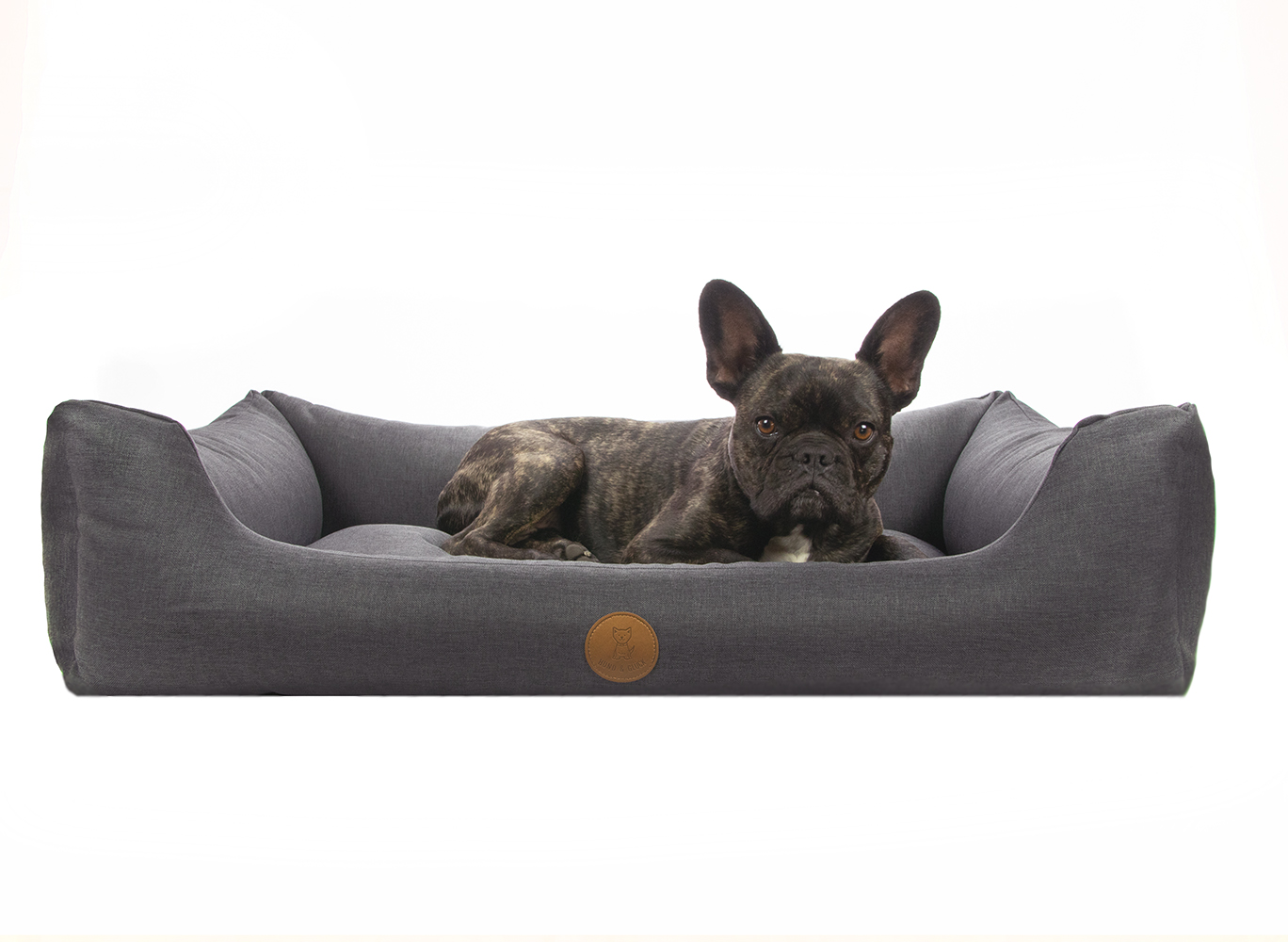 Hund&Glück Hundebett Dreamy Anthrazit XL